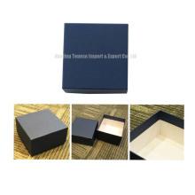 Caja de joyería azul caja de regalo de cartón de MDF