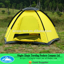 yellow single layer dome tent