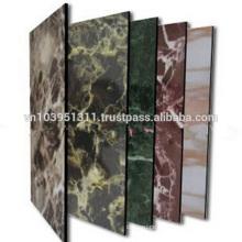 Unbroken core aluminum composite panel for decoration