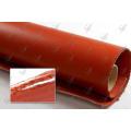 Tissu en fibre de verre revêtu de silicone double face Couleur rouge