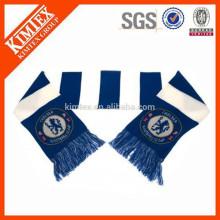 Оптовая пользовательских трикотажные акриловые футбольные барные шарфы
