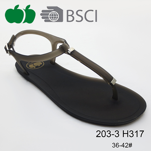 summer fashion pvc flat sandals