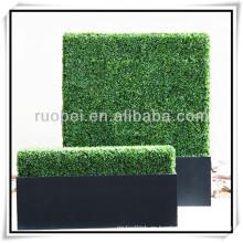 Pared verde artificial de la cerca de la hiedra plástica de la venta 2015 calientes para la decoración