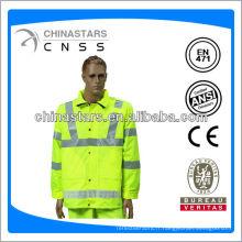 EN471 / ANSI hi viz imperméable en pvc clair