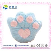 Atacado Blue Bear Paw Cushion / Pelúcia Fluffy Cashion