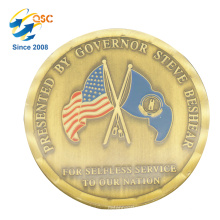 Hot Selling Custom Metal Coin Blank Antique Style Navy Coins