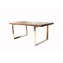 Home Design Furniture Wooden Dining Table with Matal Leg