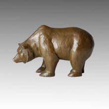 Animal Brass Statue Bear Statue Craft Bronze Sculpture Tpal-140