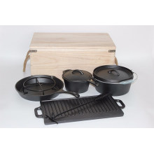Pre-Seasoned Cast Iron Camping Cookware Sets