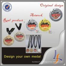 Medalla de baloncesto de encargo del precio de fábrica con la cinta