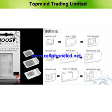 Adaptador Noosy SIM 3 en 1 para iPhone 4 4s 5 Samsung I9500