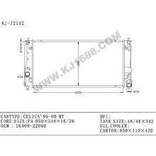 Radiador automático de aluminio del proveedor de China para Toyota Celica'99-00 Mt