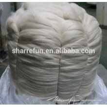 Pure cashmere tops ivory 16.5mic/44mm for cashmere fabric cashmere sweater