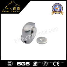 Bouchon de porte magnétique en alliage de zinc en acier inoxydable pour porte en verre