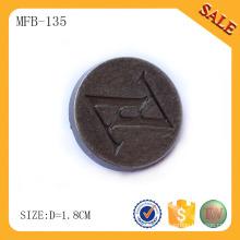 MFB135 Qualitätsnachrichtenart und weisejeansknopf, Markenlogo gravierte Metallschaftknopfgewohnheit
