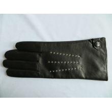 2013 guantes maduros de la tapa del cuero de la señora de la venta caliente