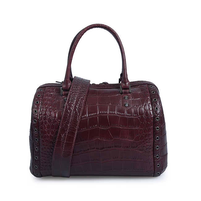Boston Bag Crocodile Leather Casual Tote Bag