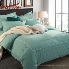 Auf Wiedersehen Romantische Minzgrün Pima Baumwolle Bettlaken-Sets mit Mode-Designs