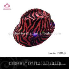 Chapeau de fête LED léopard