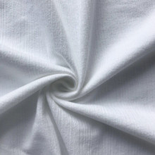 Cotton elastane Jacquard knitting fabric white color