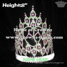 8in Summer Slipper Crystal Pageant Crowns