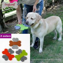 2017doglemi best selling novo macio feltro pet dog frisbee flying toys