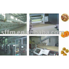 Large and medium-sized biscuit production line