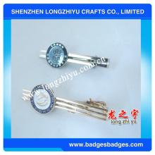 Clip de lazo de lujo de moda de metal, clip de lazo de plata, clip de lazo de encargo