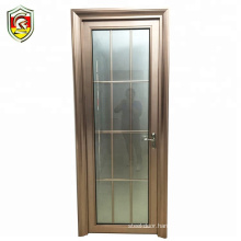 home used aluminium frame frosted tempered glass bathroom interior door