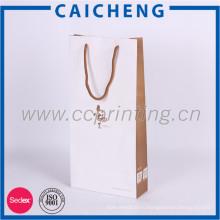 Высокое качество luxyry подарка бумажная хозяйственная сумка с логосом OEM