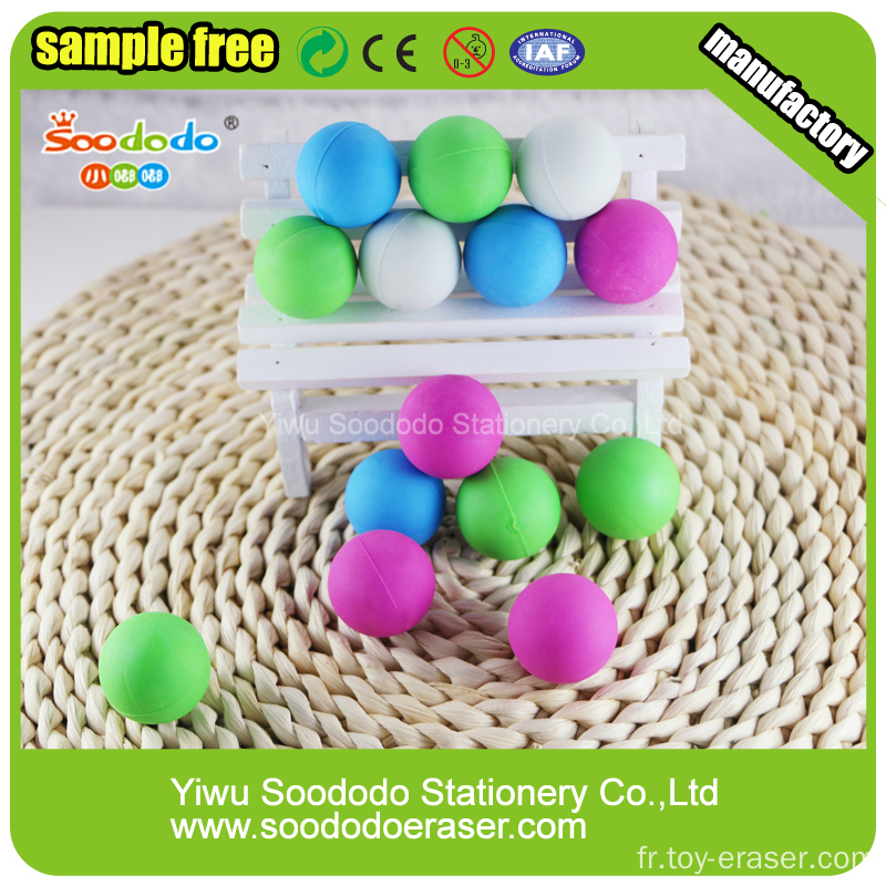 Cute Ball Shaped Eraser,Assorted design eraser