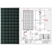 Модуль 36В 18В 195W 190 Вт 200 Вт 205W monocrystalline панель солнечных батарей PV с одобренный CE
