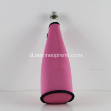 Kosong Warna Pink 3mm Neoprene Champagne Bottle Holders
