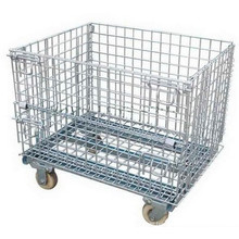 1000X800 Collapsible Steel Mesh Container with Wheels
