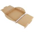 """Premium 13"""" Pizzakarton Weißer Wellpappe-Papierkarton zum Mitnehmen Lieferbehälter"""