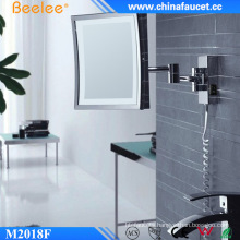 Square Smart Glossy Adjustable Shower Wall LED Mirror