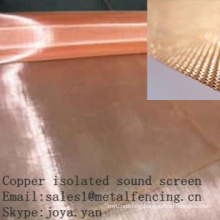 Copper isolated sound screen