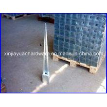 Âncora de poste de vedação de aço galvanizado, Âncora de aterramento, âncora de poste