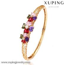 50983-Xuping nuevo estilo Crystal Gold Bangle con 18 K chapado en oro