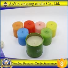 Украшение дома ароматная разноцветная свеча-столб