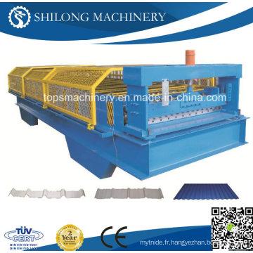 Machine de formage de rouleau de plancher en tôle d'acier galvanisé de haute qualité
