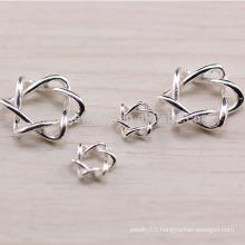 sef028 10pc/lot sef022 50pc/lot 925 Sterling silver jewelry diy accessories , Star of David beaded bracelet fitting material