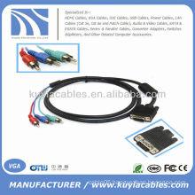 6FT VGA HD15 SVGA to RGB Computer TV HDTV Cable