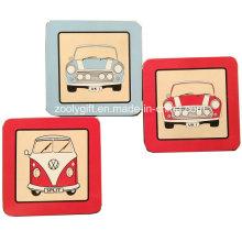 10,5 X 10,5 Cm Квадратная пользовательская печать Корк Кубок Coaster Placemat