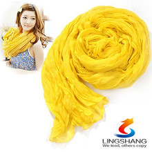 Womens Girl Candy Color long soft silk chiffon scarf Wrap Shawl Pashmina Scarves