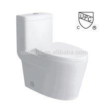 CB-9521 CUPC conception de salle de bains plancher monté unique flush une pièce toilette upc
