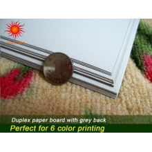 Duplex Board Grey Back mit starker Steifigkeit und exzellentem Klappwiderstand