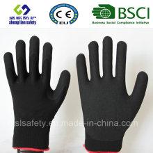 Gants de travail de sécurité en couche de nitrile, de sable fin (SL-NS113)