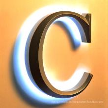 LED Acryl beleuchtete Werbung Kunststoff oder Metall Outdoor-Zeichen