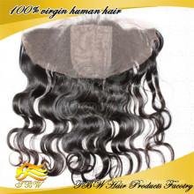 2015 новая мода высокого качества завод Циндао напрямую 13x4 шелк база Фронтальная с ребенком волос